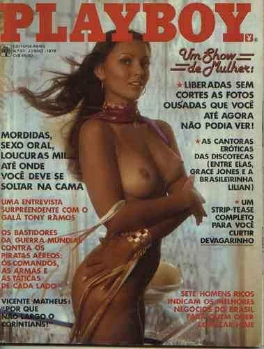 Capa da playboy de junho  de 1979 com a Laura Lyon