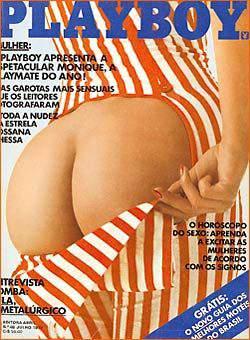 Capa da playboy de julho  de 1979 com a Monique