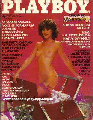 Capa da playboy de agosto  de 1979 com a Kathleen