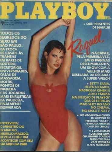 Capa da playboy de dezembro  de 1979 com a Raquel Welch