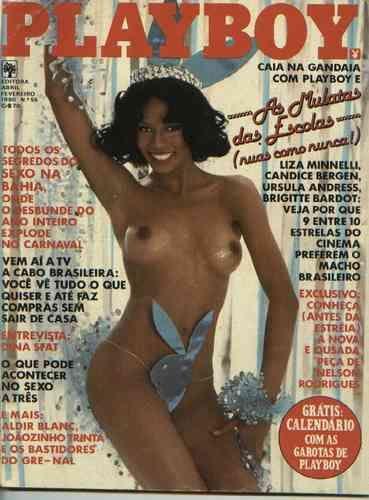 Capa da playboy de fevereiro  de 1980 com a Sonia e as Mulatas