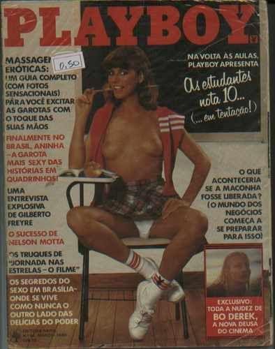 Capa da playboy de março  de 1980 com a Kathleen