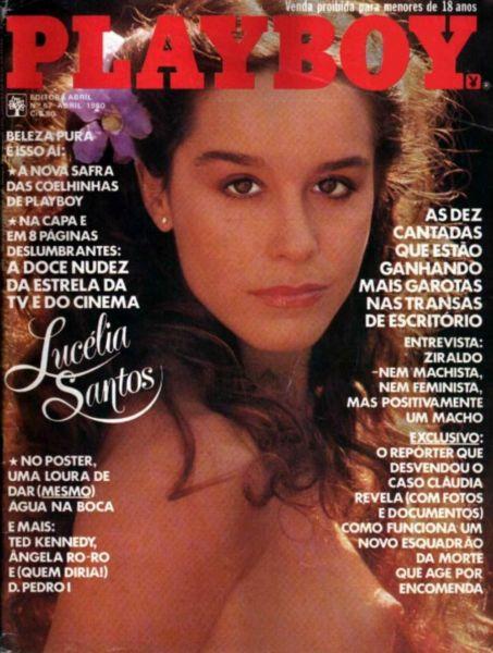 Capa da playboy de abril  de 1980 com a Lucelia Santos