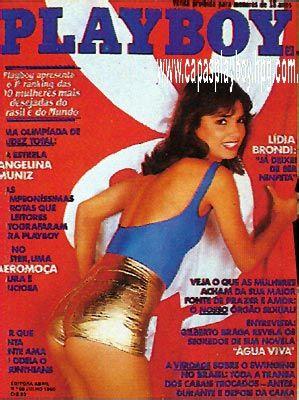 Capa da playboy de julho  de 1980 com a Lidia Brondi