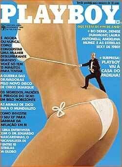Capa da playboy de dezembro  de 1980 com a Oneida