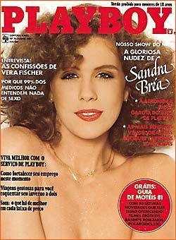 Capa da playboy de junho  de 1981 com a Sandra Brea