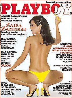 Capa da playboy de julho  de 1981 com a Zaira Zambelli