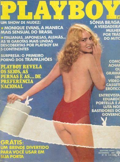 Capa da playboy de setembro  de 1981 com a Vera Morgari