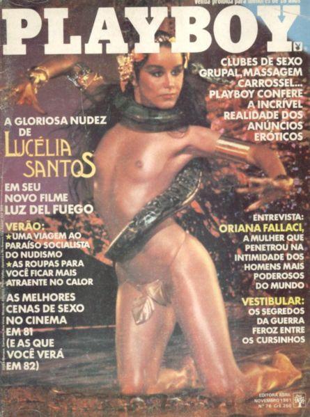 Capa da playboy de novembro  de 1981 com a Lucelia Santos