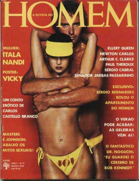 Capa da playboy de março  de 1976 com a itala Nandi