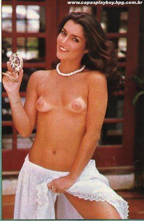 Capa da playboy de março  de 1982 com a Angelina Muniz