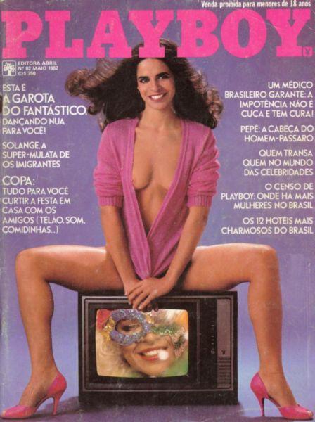 Capa da playboy de maio  de 1982 com a A Garota do Fantastico