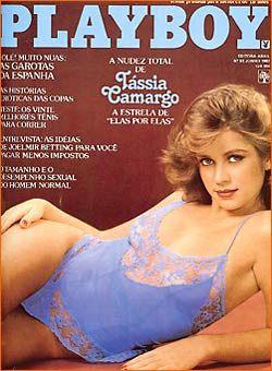 Capa da playboy de junho  de 1982 com a Tassia Camargo