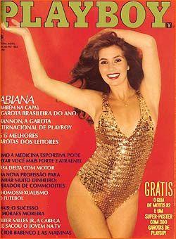 Capa da playboy de julho  de 1982 com a Fabiana
