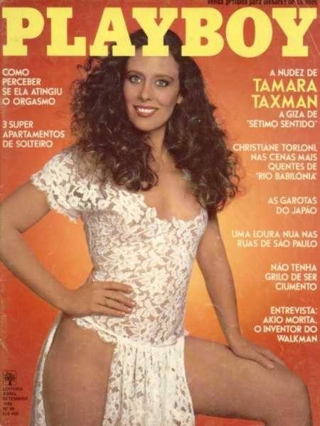 Capa da playboy de setembro  de 1982 com a Tamara Taxman