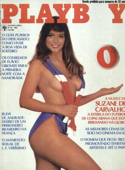 Capa da playboy de outubro  de 1982 com a Suzanne Carvalho