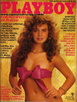Capa da playboy de novembro  de 1982 com a Claudia Rey