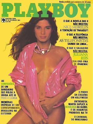 Capa da playboy de fevereiro  de 1983 com a Nice Meirelles