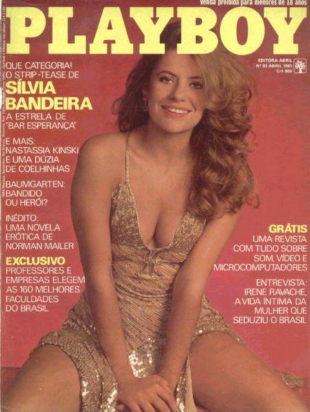 Capa da playboy de abril  de 1983 com a Silvia Bandeira