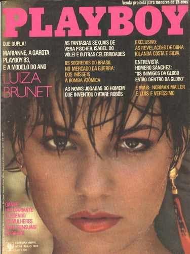 Capa da playboy de maio  de 1983 com a Luiza Brunet