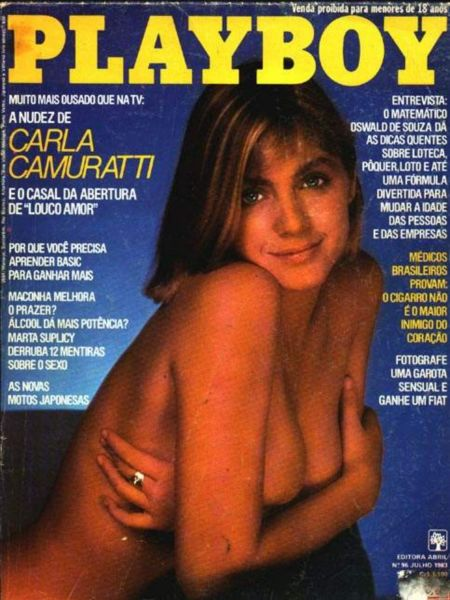 Capa da playboy de julho  de 1983 com a Carla Camurati