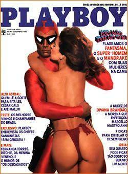Capa da playboy de setembro  de 1983 com a Karmita Medeiros