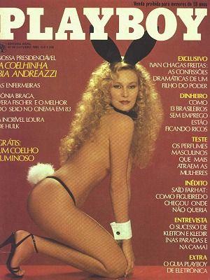 Capa da playboy de outubro  de 1983 com a Bia Andreazzi