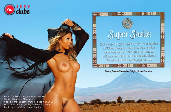 Capa da sexy de novembro  de 2007 com a Sheila Mello