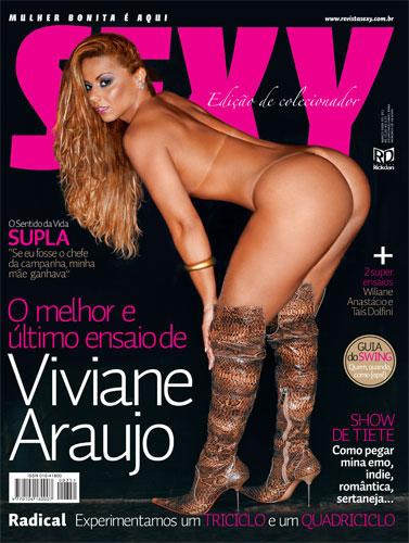 Capa da sexy de março  de 2009 com a Viviane Araujo