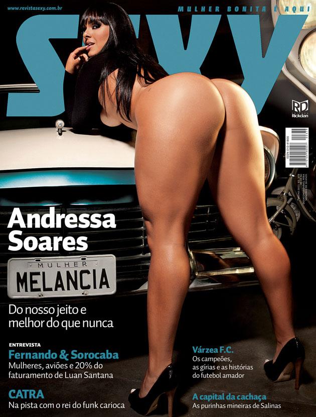 Capa da sexy de julho  de 2011 com a Andressa Soares A Mulher Melancia