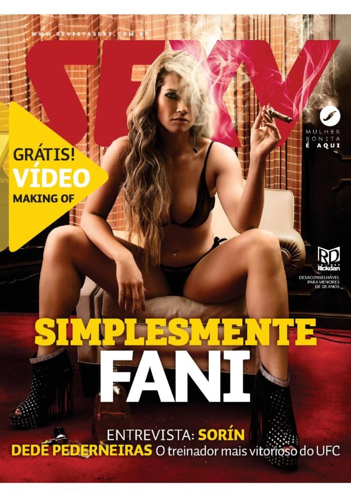 Capa da sexy de maio  de 2014 com a Fani Pacheco