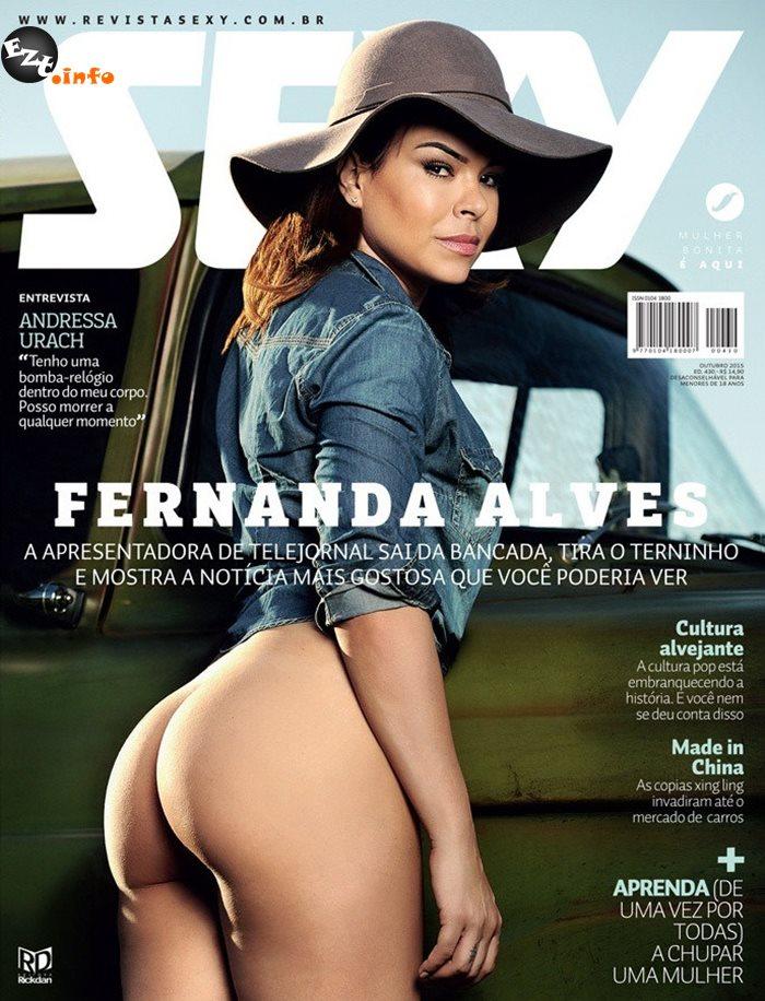 Capa da sexy de outubro  de 2015 com a Fernanda Alves